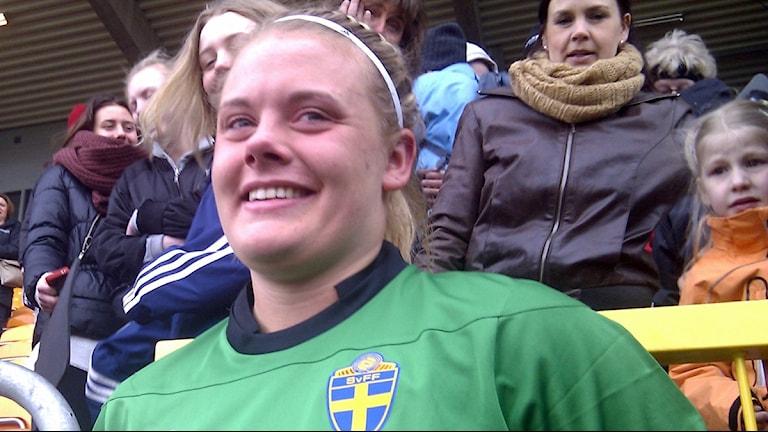 Målvakten Jessica Höglander.