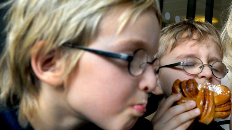 Barn med glasögon (arkivbild). Foto: Janerik Henriksson / Scanpix