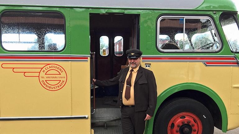 Kennet körde bussen från 1952 som varit i trafik i Västmanland.