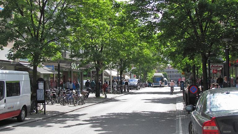 Vasagatan i Västerås centrum / Foto: Inga Korsbäck SR