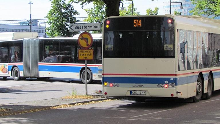 Buss 514 i Västerås. Foto: Samira Jonsson/Sveriges Radio.