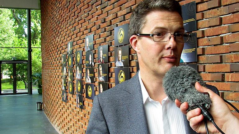 Dag Celsing, direktör för Västmanlandsmusiken. Foto: Mattias Rensmo/Sveriges Radio.