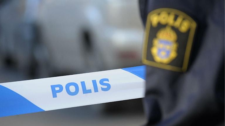 Avspärrat med polisband. Foto: Fredrik Sandberg/Scanpix.