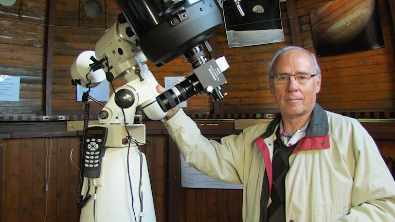 Hans Thorgren, astronom Åkesta observatorium. Foto: Natalie Caballero Löf/Sveriges Radio.