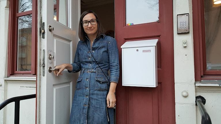 Elin Hedén vid kvinnojouren i Västerås.