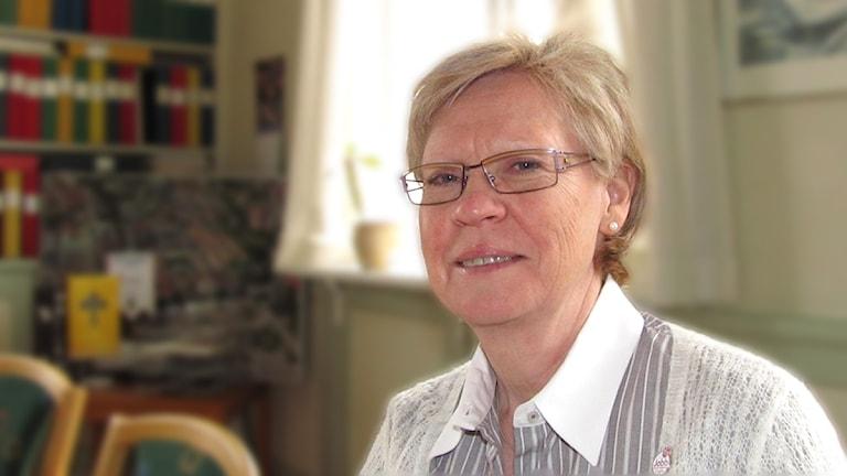 Elizabeth Salomonsson (S) i Köping / Foto: Camilla Olsson SR
