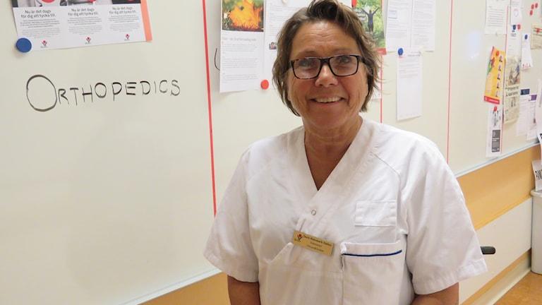 Doris Rutemark Dalmo enhetschef ortopedmottagningen.