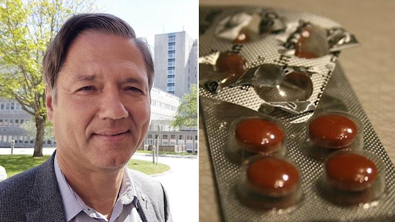 Regionrådet Kenneth Östberg (S) och medicin mot springmask.
