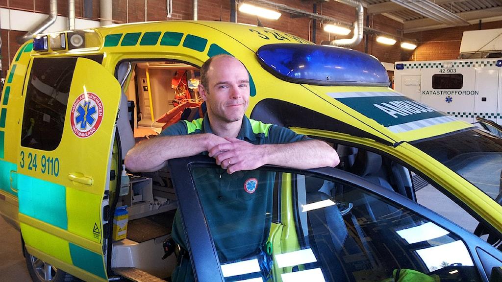 Fredrik Leek, enhetschef ambulanssjukvården i Västmanland