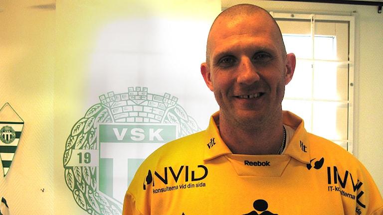 VSK Bandys målvakten Andreas Bergwall.