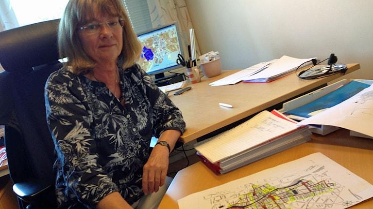 Ulla Bergquist på länsstyrelsen i Västmanland. Foto: Mattias Pleijel/Sveriges Radio.