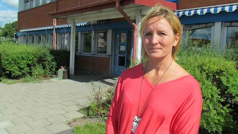 VL:s förvaltningschef Maria Linder. Foto: Marcus Carlsson/SR