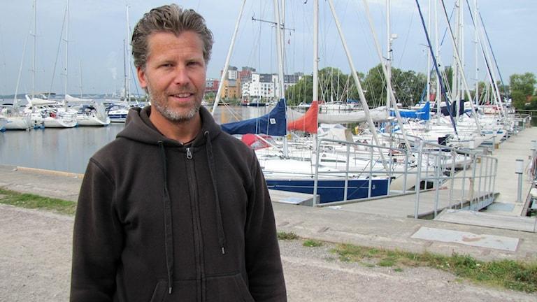 Magnus Edström (MP) ordf i Västerås byggnadsnämnd. Foto: Marcus Carlsson/SR.