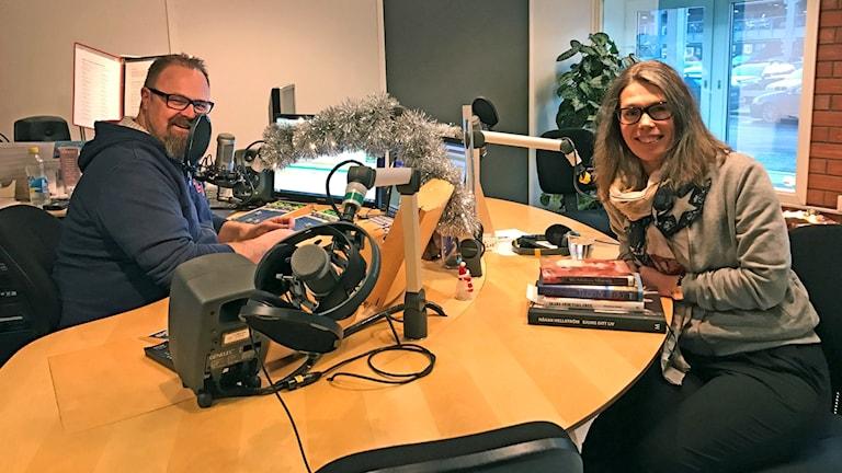 Ingela Lundskog och Martin Vare i Bokfokus.