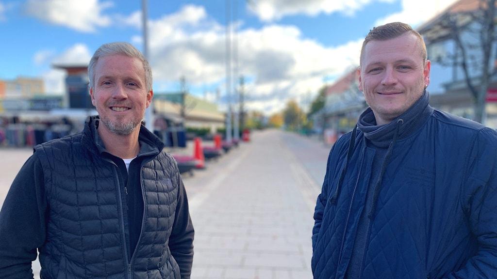 Johan Lindberg och Marijo Grgic var med och drog i land Barncancerveckan i Hallstahammar.