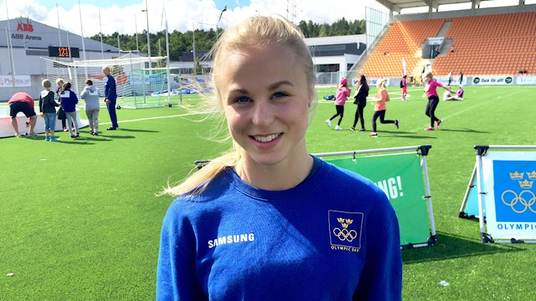 Gymnasten Jonna Adlerteg från Västerås missade OS på grund av en skada.
