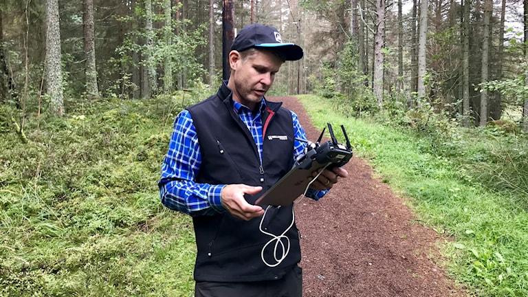 Mårten Gustafsson, skogsinspektor på Mellanskog.