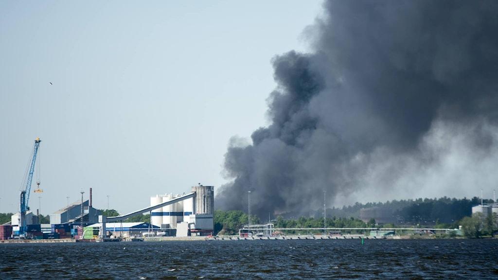 Brand i Cassandra oils lokaler i Västerås.