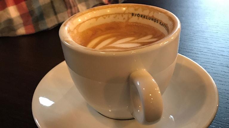 En kopp cappuccino