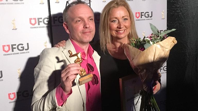 Matthias Ståhle och chefredaktör Eva Burman.