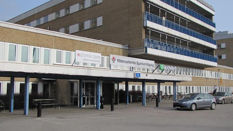 Sjukhuset i Köping. Foto: Inga Korsbäck/Sveriges Radio.