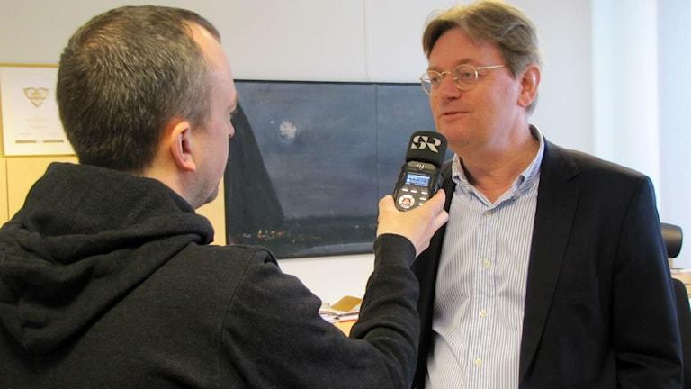Bo Dahllöf, stadsdirektör i Västerås. Foto: Marcus Carlsson/Sveriges Radio.