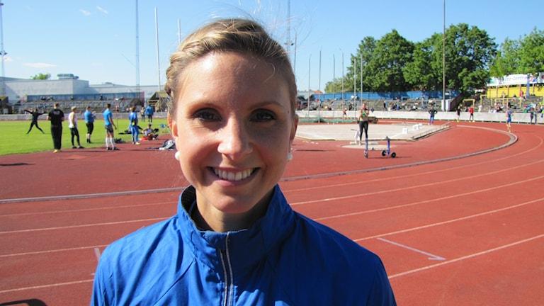 Malin Marmbrandt Västerås Friidrott. Foto: Hans Sjöström / Sveriges Radio
