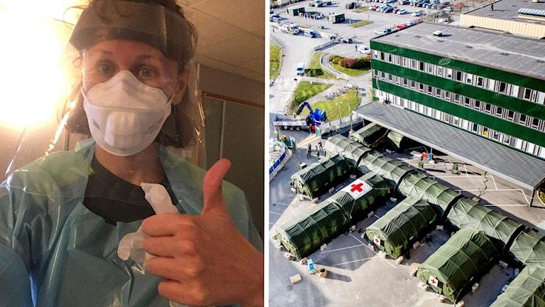 Yvonne Carlsson, AT-läkare på Östra sjukhuset i Göteborg samt östra sjukhuset och fältsjukhus.