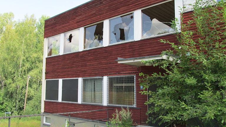 Byggnad vid Högbyn i Fagersta / Foto: Gustaf Larsson / SR