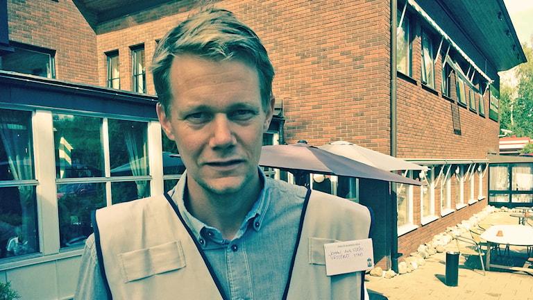 Johan Ahlström, samordnare för Posom-grupperna. Foto: Andreas Irebring/Sveriges Radio.