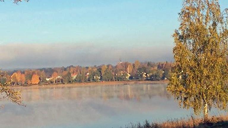 Vy över sjön Nedre Vättern i Skinnskatteberg.
