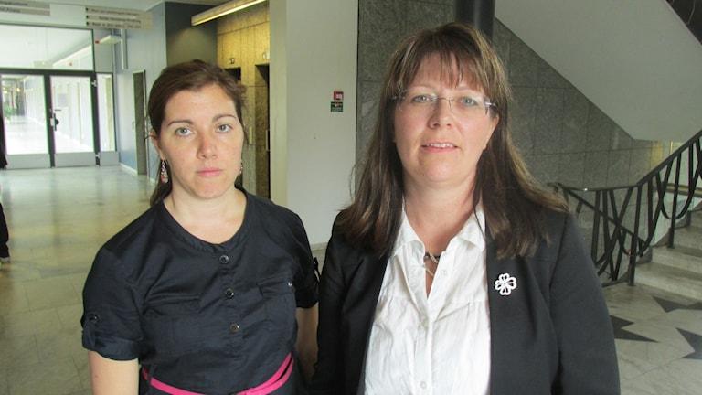 Vasiliki Tsouplaki (V) och Vicky Skure Eriksson (C).