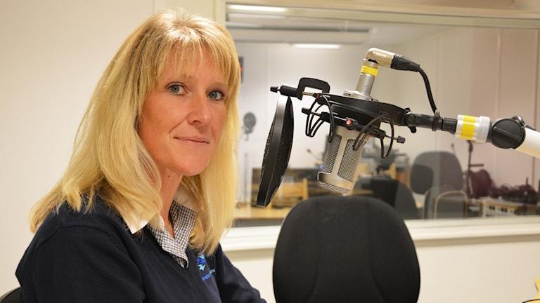 Carina Sandor (FP) i Skinnskatteberg. Foto: Eva Kleppe/Sveriges Radio.