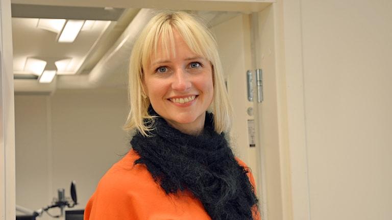 Åsa Eriksson (S) i Norberg. Foto: Eva Kleppe/Sveriges Radio.