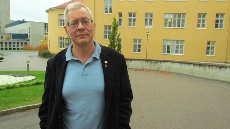 Hans Jansson, ordförande Vänsterpartiet Västmanland. Foto: Marcus Carlsson/Sveriges Radio.