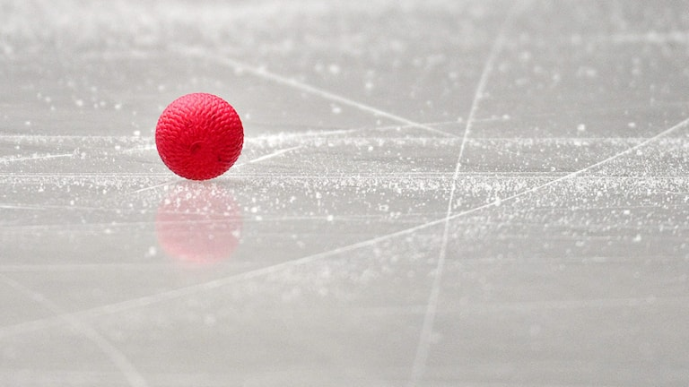 Bandyboll på isen / Foto: Anders Wiklund / TT