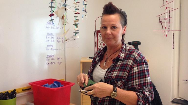 Sanna Göransson drabbades av bröstcancer för ca 1,5 år sedan. Foto: Sveriges Radio
