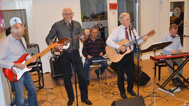 Ackes poporkester anno 2014. Foto: Monica Elfström/Sveriges Radio.
