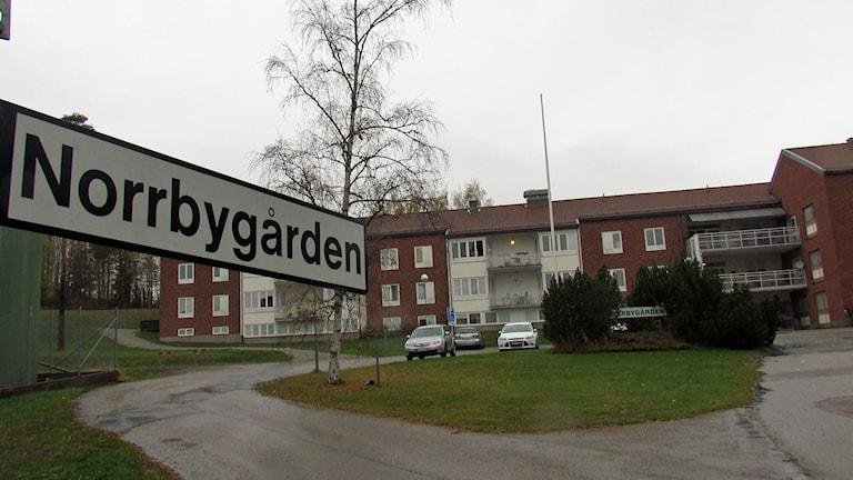 Migrationsverkets anläggning Norrbygården i Fagersta. Foto: Monica Elfström/Sveriges Radio.