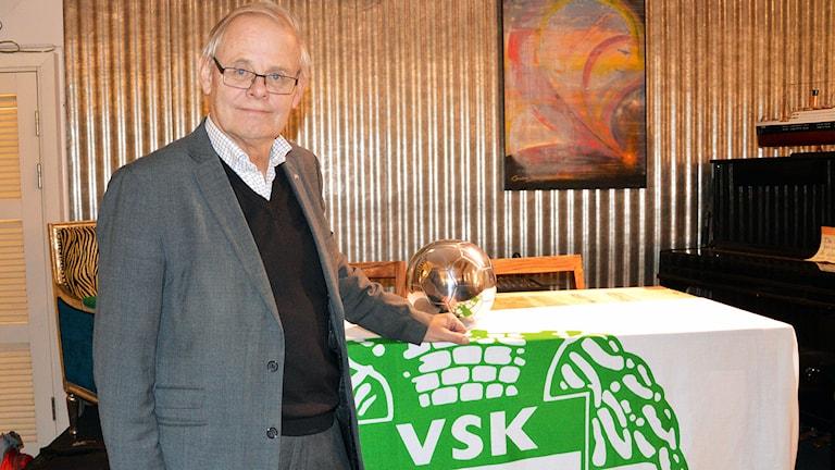 Bengt-Åke Nilsson, ny ordförande i VSK Fotboll. Foto: Jenny Rask/Sveriges Radio