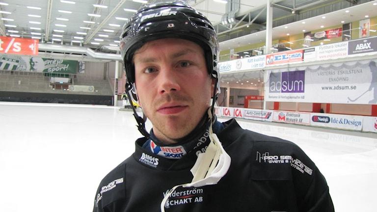 Jens Blixt Tillberga Bandy. Foto: Hans Sjöström/Sveriges Radio