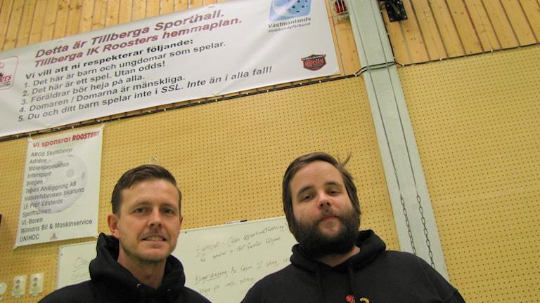 Banderollen i Tillberga Sporthall