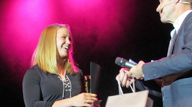 Sofi Flink Årets idrottskvinna 2014. Foto: Johan Bengts/SR.