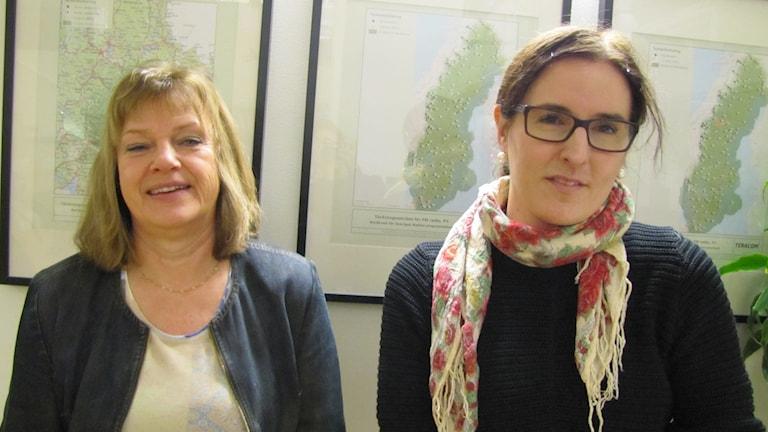 Maud Bergdahl, rekryterare och Sofie Jansson, ägare och VD på Veteranpoolen Uppsala-Västerås.