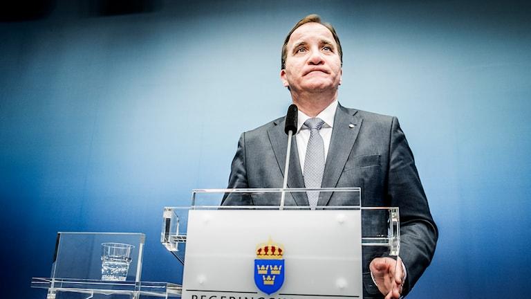 Stefan Löfven (S). Sawirle: Magnus Hjalmarson Neideman/TT