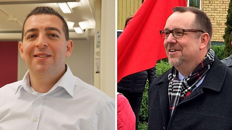 Riksdagsmännen Roger Haddad (FP) från Västerås och Olle Thorell (S) från Surahammar. Foto: Sveriges Radio.