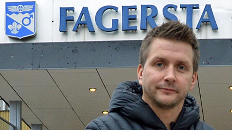 Marino Wallsten, socialdemokratiskt kommunalråd i Fagersta . Foto: Monica Elfström/Sveriges Radio.