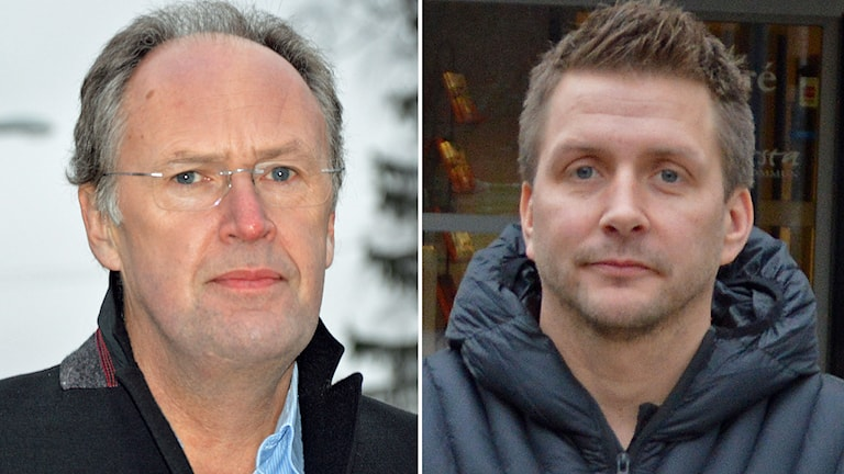 Kyrkoherde Henrik Rydberg och Marino Wallsten, socialdemokratisk kommunstyrelseordförande i Fagersta. Foto: Monica Elfström/Sveriges Radio.