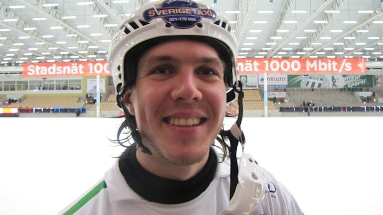 Ted Bergström VSK Bandy. Foto: Hans Sjöström/Sveriges Radio
