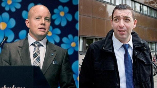 Björn Söder (SD) och Roger Haddad (FP)